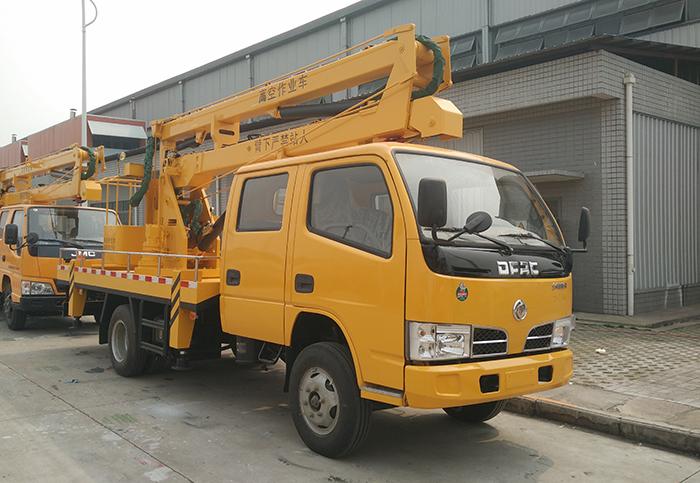 东风多利卡D6双排14米高空作业车
