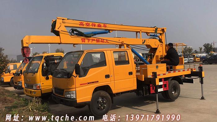 江铃12米国五蓝牌高空作业车