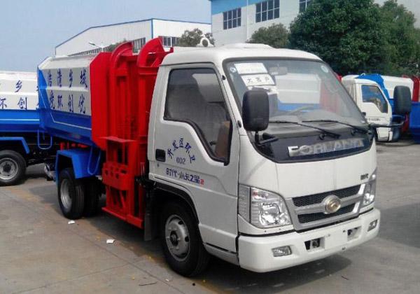 福田小卡之星自装卸式垃圾车