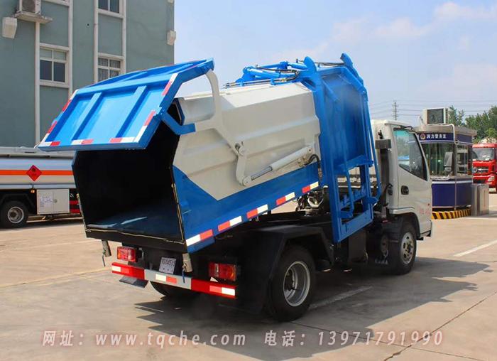 凯马2800轴距压缩式对接垃圾车