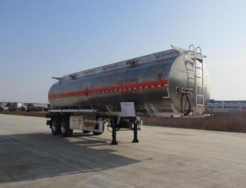 2轴单胎直罐38方汽油介质铝合金运油半挂车