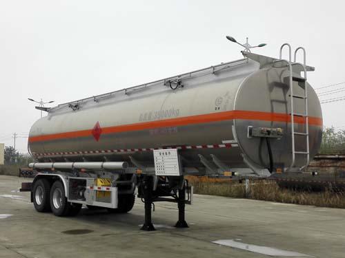 2轴双胎直罐43.8方 介质煤汽油铝合金运油半挂车