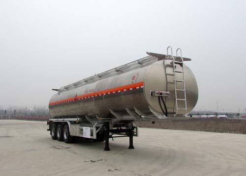 3轴双胎鹅颈式51.4方汽油介质铝合金运油半挂车