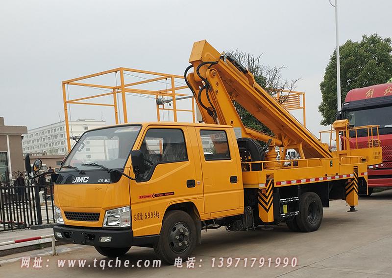 江铃双排16米直臂式高空作业车