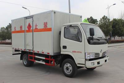 东风福瑞卡易燃气体(液体)厢式运输车