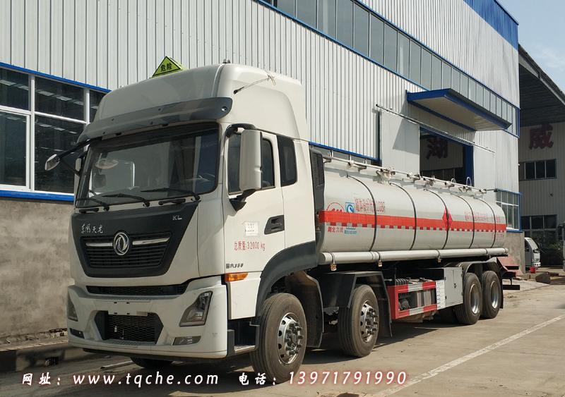 国六东风天龙前四后八易燃液体罐式运输车 介子原油