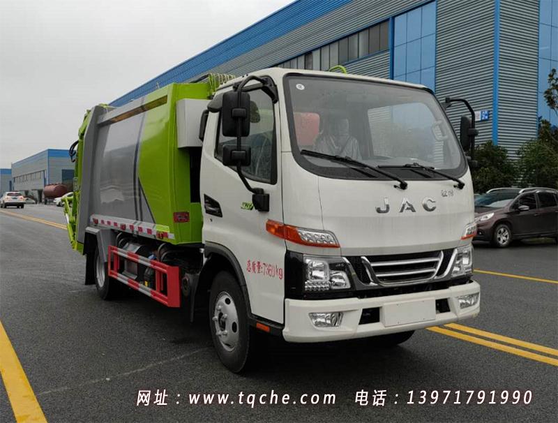 国六江淮骏铃六立方压缩垃圾车