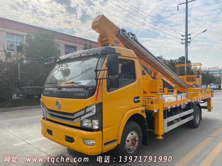 国六东风多利卡22米伸缩臂高空作业车